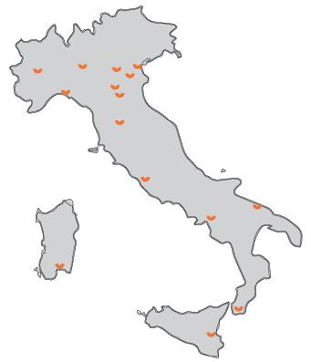 mappa rete Smile S.r.l. in Italia