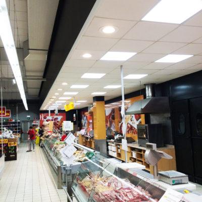 Eurospar Polesella Ferrara illuminazione Led Progetto-e
