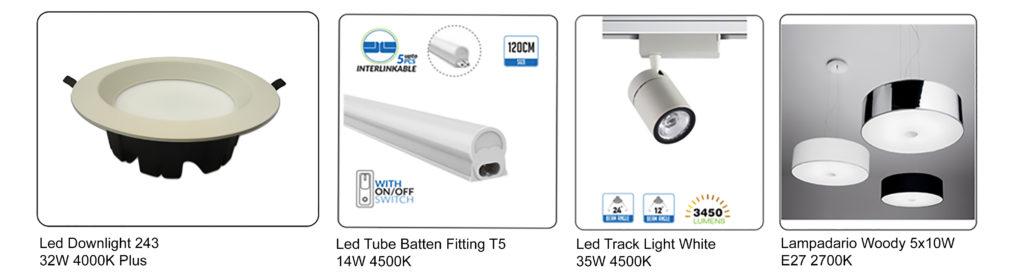 lampade Led utilizzati per calzoleria moderna Progetto-e
